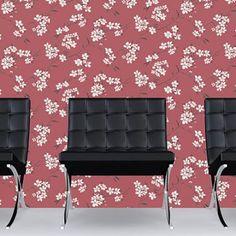 Wallpaper vliesbehang Blossom rood   Praxis