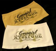 I've Got a Cowgirl Attitude Boy Short Panties * Junior's * One Size Fits Most Country Girl Style, Country Girls, My Style, Camo Outfits, Cowgirl Outfits, Cowgirl Clothing, Cowgirl Chic, Cowgirl Style, Cute Underwear