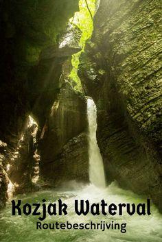 Route beschrijving naar de verborgen schoonheid van de Kozjak waterval in Slovenië.