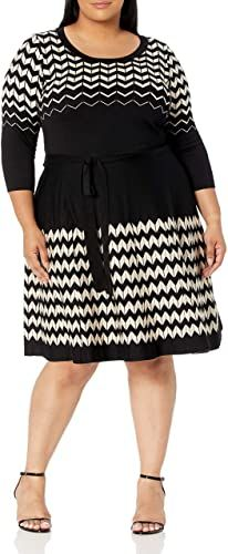 New Gabby Skye Women's Plus Size 3/4 Sleeve Scoop Neck Fit and Flare Sweater Dress. plus size sweater dress ($51.59)findtopgoods Long Knit Cardigan, Cardigan Sweaters For Women, Hoodie Dress, Tie Dress, Plus Size Sweater Dress, Leopard Dress, Color Block Sweater, Long Hoodie, Dress Online
