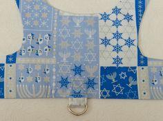 Chanukkah Hanukkah Dreidel Star of David Menorah Dreidel Theme Harness Outfit. Custom made for your Cat, Dog or Ferret.