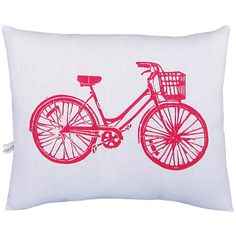 I pinned this Bike Pillow from the Remodelaholic event at Joss and Main!wonder if it comes in other colors. Accent Pillows, Floor Pillows, Deco Dyi, Genius Ideas, Young House Love, Textiles, Cotton Pillow, My New Room, Joss And Main