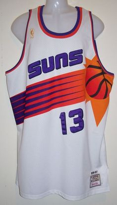 Authentic Mitchell & Ness 1996-97 Phoenix Suns Steve Nash 13 Throwback Jersey 52
