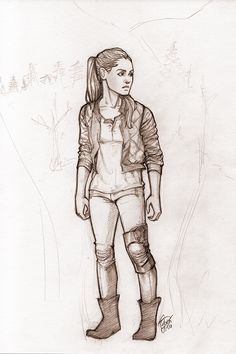 """Original pencil drawing of Raven Reyes from """"The 100."""" Drawing is done on 8.5"""" x 11"""" acid-free card stock."""