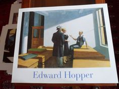 Edward Hopper -  Conference at Night - Kunstdruck ( Affiche Art Print Láminas )