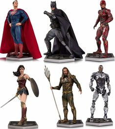 Justice League Statues Revealed! #JusticeLeague  I WANT THEM ALL!!!!!!!!!!