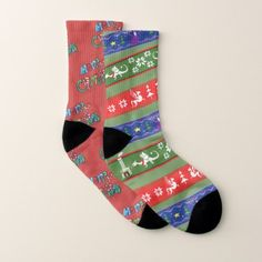 Miss-Match Holiday Ugly Sweater Fantasy Socks - Xmas ChristmasEve Christmas Eve Christmas merry xmas family kids gifts holidays Santa