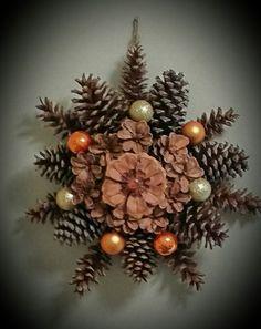Autumn pine cone wreath