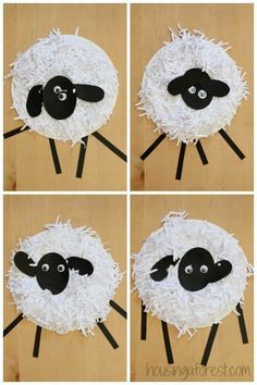 Paper Plate Sheep Children's Craft / Art Project, made with shredded paper - Great for Pre-K Complete Preschool Curriculum's Down on the Farm theme! Repinned by Pre-K Complete. Follow us on our blog, FB, Twitter, and Google Plus.