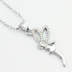 Creative design argenté strass collier