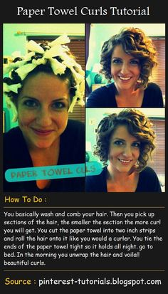 Paper Towel Curls Tutorial