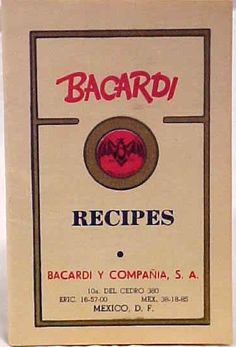Bacardi Recipes Vintage Cookbooks, Cocktails, Drinks, Cuban, Authenticity, 1950s, Alcohol, Portraits, Drinking