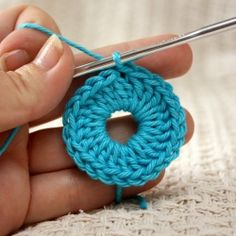 Tutorial on the magic ring (sometimes called sliding ring or loop) method of starting a crochet motif in the round.