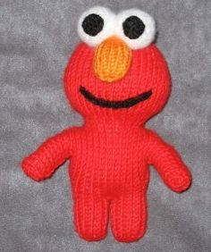 Free Elmo Knitting Pattern and a Free Elmo Doll Crochet Pattern