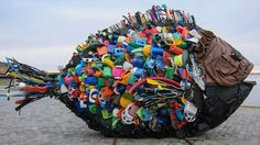 Will plastic really outweigh fish in the ocean by Informations About Will. - Will plastic really outweigh fish in the ocean by Informations About Will plastic really out - Sculpture Art, Sculptures, Waste Art, Ocean Pollution, Plastic Pollution, Recycled Art Projects, Trash Art, Plastic Art, Design Poster