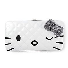 Hello Kitty Quilted Hardcase Wallet with Bow