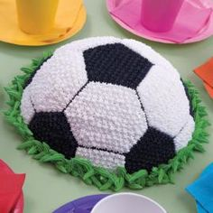 idea for a bday cake for my sporty little sister  http://www.wilton.com/idea/Master-the-Goal-Cake