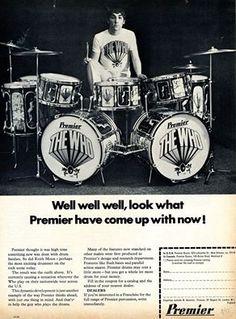 Keith Moon Advert for Premier Drums 1967.