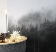Dezembermoment..... | SoLebIch.de - Foto von Mitglied Raumzauber #solebich #interior #einrichtung #inneneinrichtung #deko #decor #picture #bild #candle #candlestand #kerzenhalter #kerzenständer #fairylights #lichterkette #stern #star