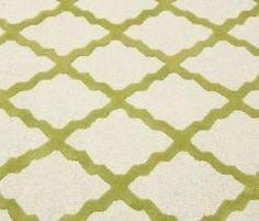 Hand-hooked Alexa Moroccan Trellis Green Wool Rug (5' x 8')