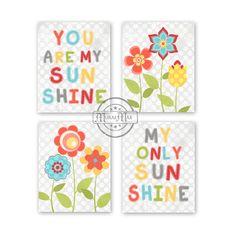 You are My Sunshine   Nursery Decor  Prints for by MuralMAX, $48.00