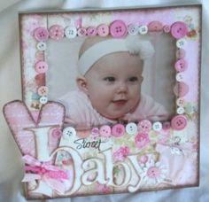 Girl photo frame