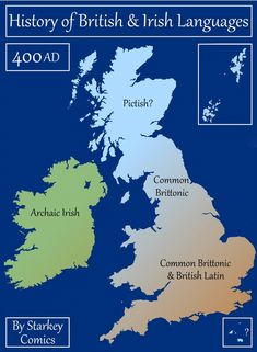 Languages of the British Isles throughout history - Vivid Maps Norse Names, Welsh Language, Middle English, British History, History Channel, Women's History, Ancient History, American History, Anglo Saxon