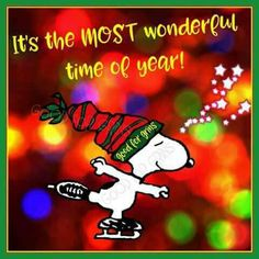 It's the most wonderful time of the year! Snoopy skating.