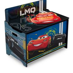 Set little hearts racing full throttle with this Disney/Pixar Cars Deluxe Toy Box by Delta Children Toy Storage Boxes, Kids Storage, Toy Boxes, Storage Chest, Disney Pixar Cars, Disney Toys, Cars Toy Box, Kids Bench, Delta Children