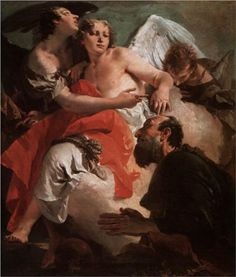 Abraham and the Three Angels - Giovanni Battista Tiepolo