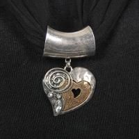 Great Bronze and Silver Pendant for your Favorite Scarf! $12.95