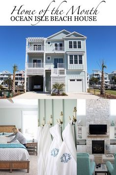 Check out our Home of the Month feature: A Serene Ocean Isle Beach Home #OIBHAPPY - Dream House - Coastal Decor - Simple Stylings - http://www.simplestylings.com - North Carolina - Beach House