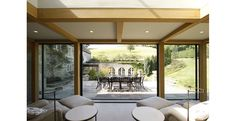 Ansty Manor: Contemporary Glass Extension for a large country house in Salisbury