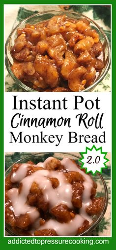 Pinterest collage for cinnamo roll monkey bread 2.0