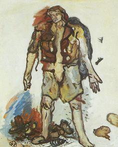 Georg Baselitz - Partisan (1965) at 1987's Art Of Our Time, The Royal Scottish Academy, Edinburgh.