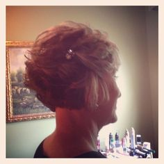 Curled Bob Mother Of The Bride Short Hair Wedding Style