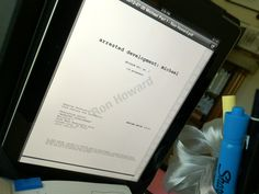 Ron Howard tweets a peek at the new season's first script.