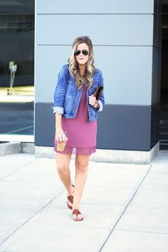 Mauve Slip Dress