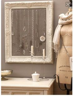 Jewelry hanger frame ~ Beautiful!