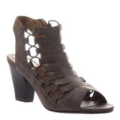 Winning Open-Toe Stacked Heel Sandal with pullie style ties. Loving this style! Less than $50!