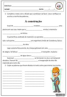 SOSPROFESSOR-ATIVIDADES: Ditado