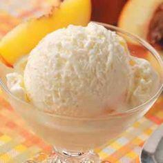 Peach Cheesecake Ice Cream