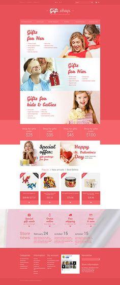 Giftshop Online Store #PrestaShop #template. #themes #business #responsive #webshop