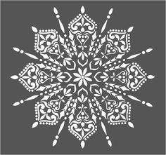 Art Furniture, Stencils Mandala, Stencil Painting, Stencil Wall Art, Stenciled Floor, Ornaments Design, Mandala Pattern, Vintage Crafts, Stencil Designs