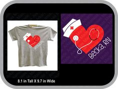 Nurse heart with stethoscope tshirt, RN, LPN, caregiver, CNA, nurse gift, many sizes, many colors to chose from - pinned by pin4etsy.com