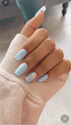 Pretty in Pastel nail colors & designs to try this season - Fab Wedding Dress, Nail art designs, Hair colors , Cakes Summer Acrylic Nails, Best Acrylic Nails, Pastel Nails, Blue Nails, Summer Nails, Nail Art Designs, Colorful Nail Designs, Acrylic Nail Designs, Short Nail Designs