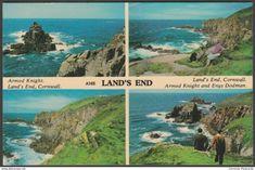 Multiview, Land's End, Cornwall, 1968 - Harvey Barton Postcard