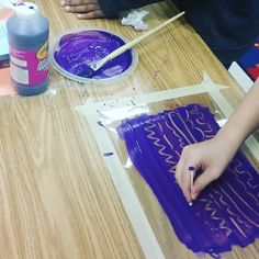 #2ndgraders doing some #monoprinting #wip
