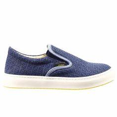 Fendi   Shoes slip on zucchino denim #baby #boy #kid
