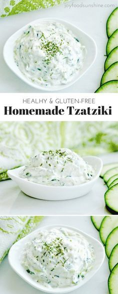 Healthy Meals For Kids Healthy Homemade Tzatziki Recipe! Made with Greek yogurt, this tzatziki sauce perfectly compliments all your favorite Mediterranean dishes! It's gluten-free, high-protein and irresistibly delicious! Homemade Tzatziki Sauce, Tzatziki Recipes, Tzatziki Sauce Recipe Greek Yogurt, Tatziki Sauce Recipe, Homemade Sauce, Tzatziki Recipe With Sour Cream, Homemade Food, Greek Salsa Recipe, Tzatziki Dressing Recipe